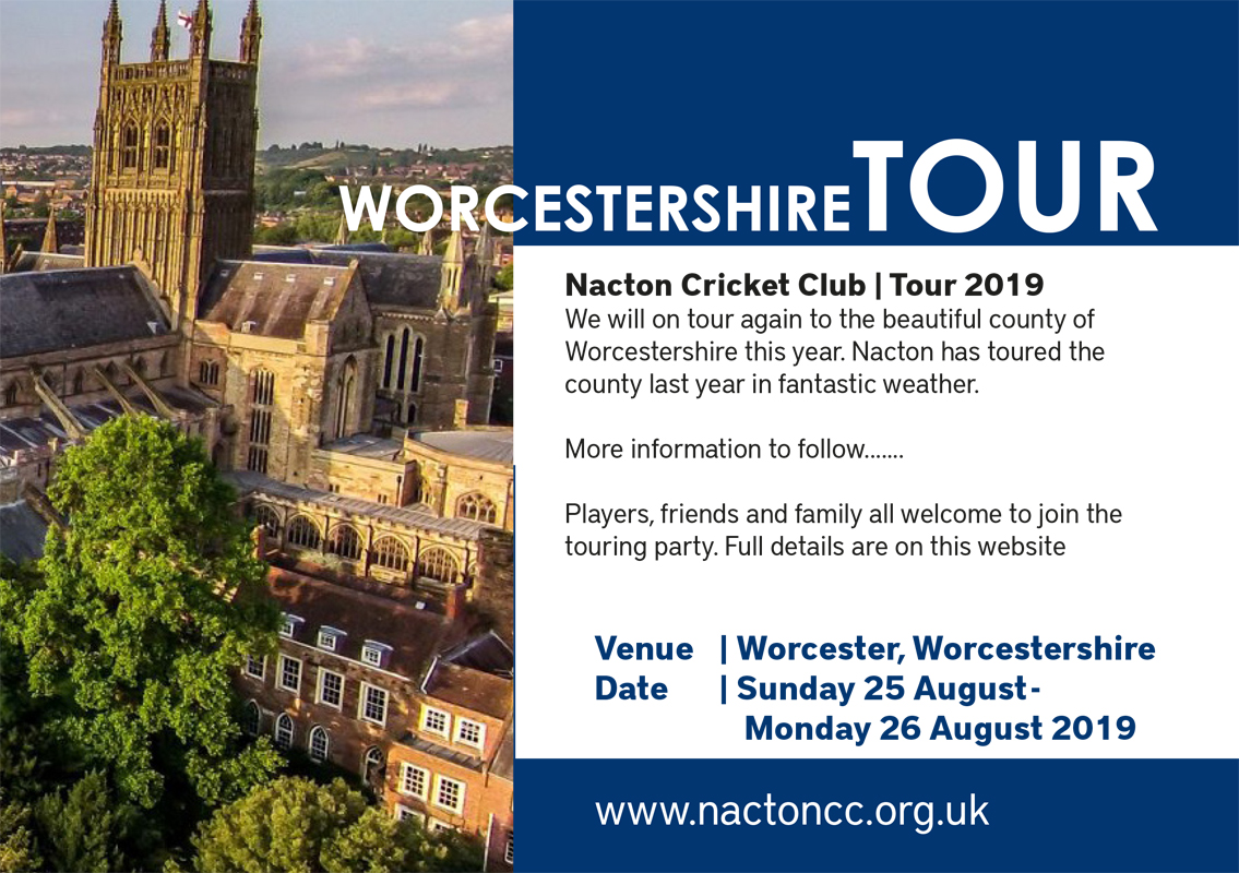 Worcestershire Tour 2019
